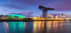 The Clydeport and the Hydro at Dusk